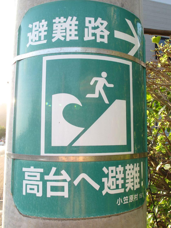Panneau abri tsunami