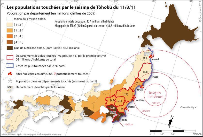 Les populations touchées par le séisme de Tôhoku du 11 mars 2011