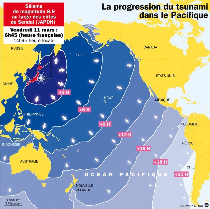 Alerte au tsunami dans tout le Pacifique