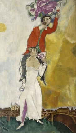 Marc Chagall, Double portrait au verre de vin (1917-18)