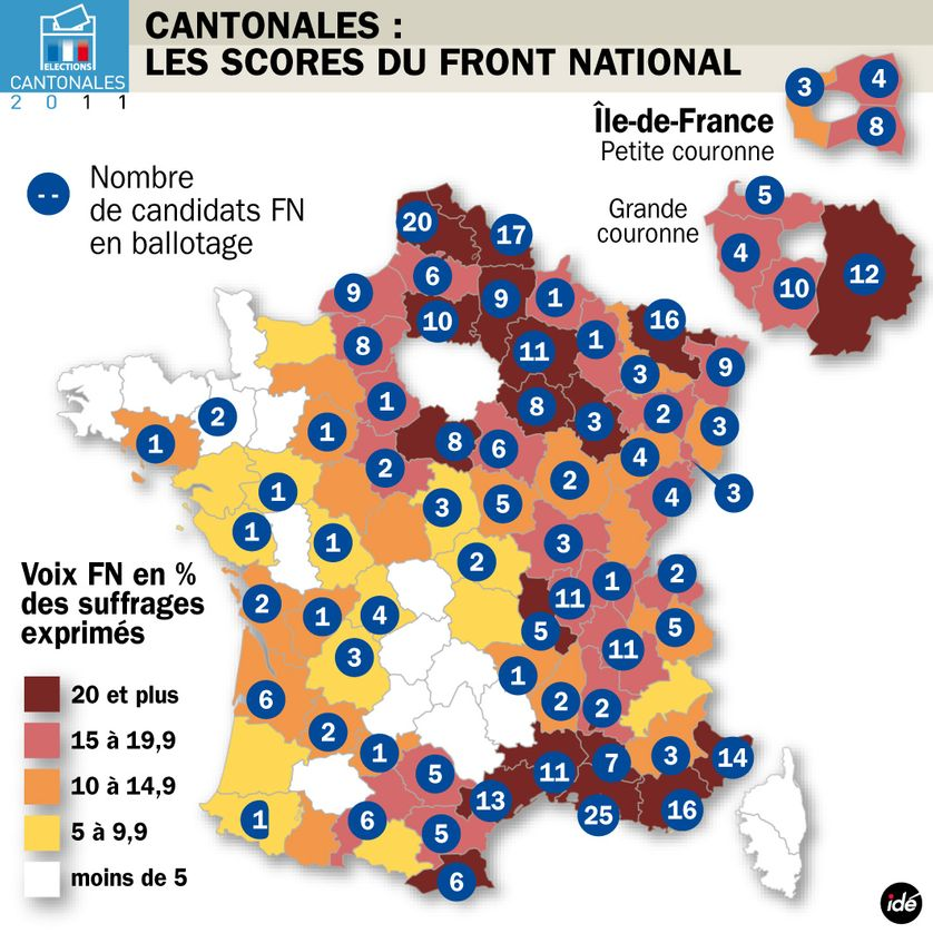 Cantonales 2011 : le vote Front national