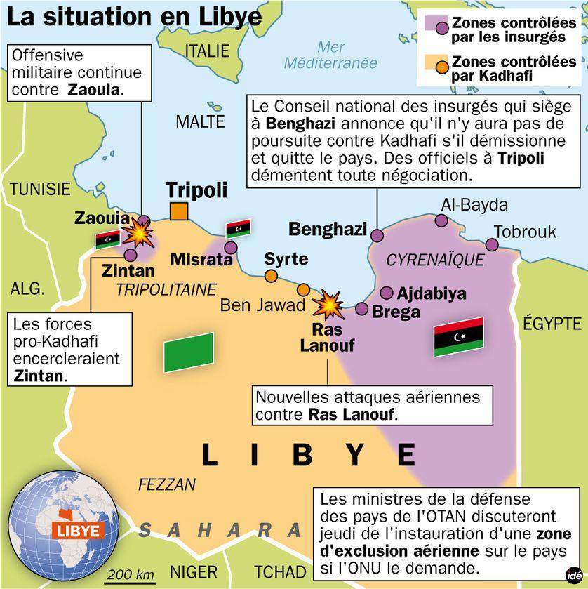 La situation en Libye le 8 mars