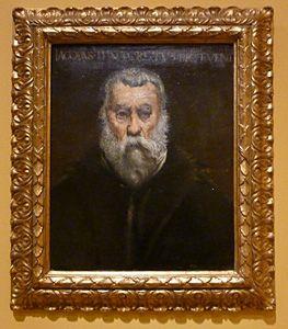 Autoportrait (d'après Tintoret) 1854.