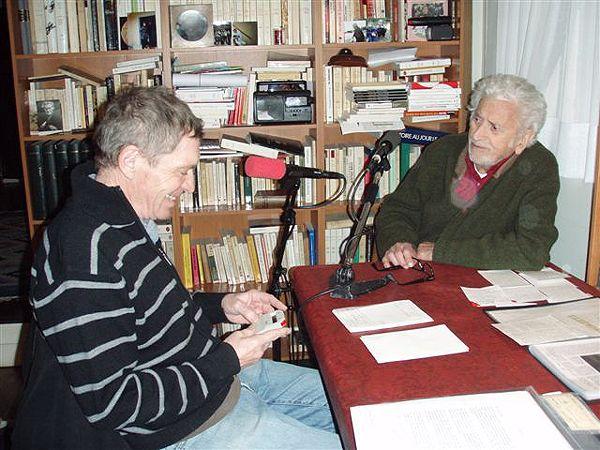 Jean-Louis Ezine et Georges Walter (à dr.)