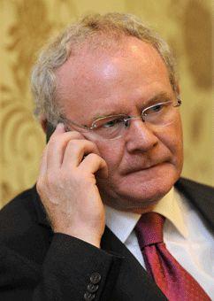 Martin McGuinness actuellement vice-Premier ministre nord-irlandais