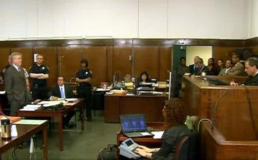La salle d'audience du tribunal pénal de Manhattan
