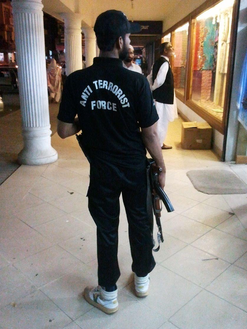 Force anti-terroriste à Islamabad