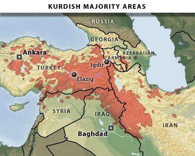 Turkie-Syrie-Irak-Kurdistan-Kurdes