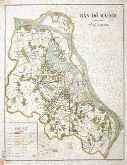 L'un des premiers plans de Hanoi dressé par le gouvernement indépendant du Vietnam
