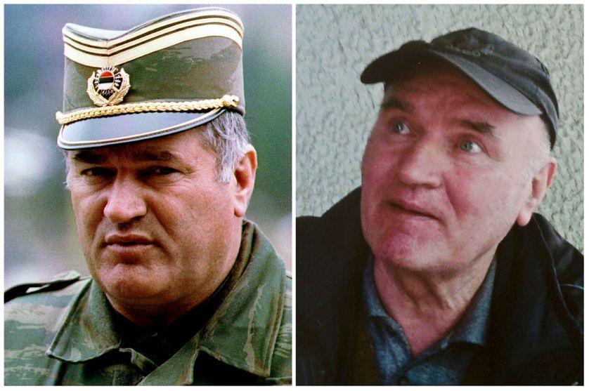 Ratko Mladic en 1993 et en 2011