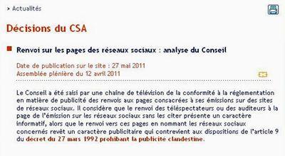 Décision du CSA