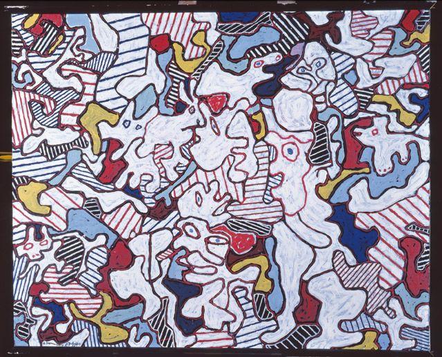 Jean Dubuffet, (1901-1985), Opéra Bobèche, 1963 (Huile sur toile, 81,4 x 100,2 cm) - Fondation Jean et Suzanne Planque