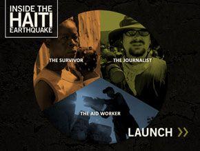 """Interface du jeu """"Inside the Haiti Earthquake"""