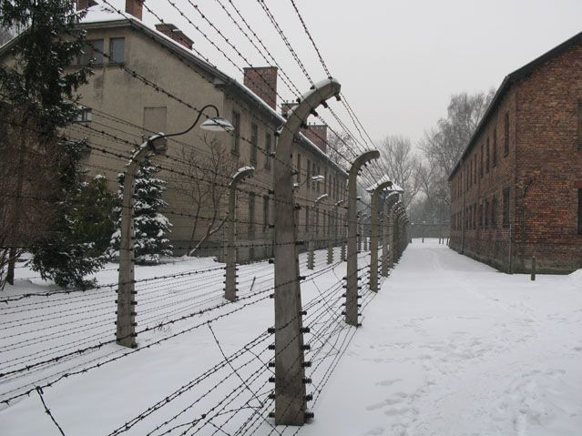 Les blocks du camp d'Auschwitz I