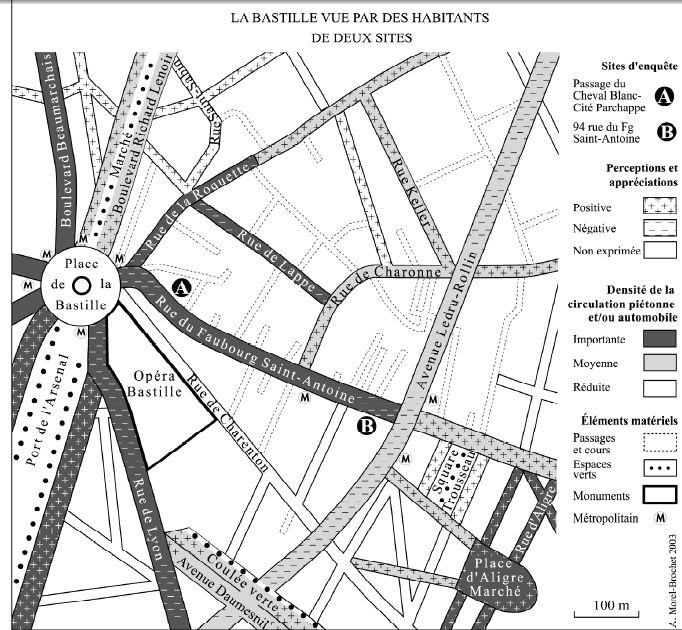 La Bastille vue par des habitants de deux sites