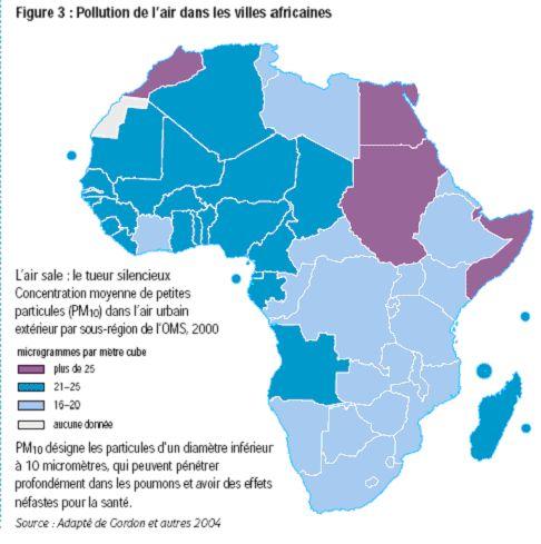 Pollution de l'air dans les villes africaines