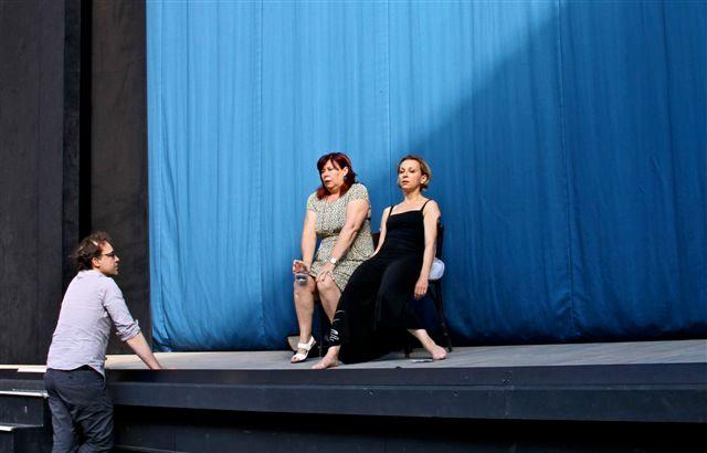 Natalie Dessay pendant les repetitions de la Traviata