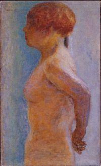 Pierre Bonnard, (1867-1947), Torse de femme, de profil, 1918 (Huile sur toile, 61,5 x 37cm) - Fondation Jean et Suzanne Planque.