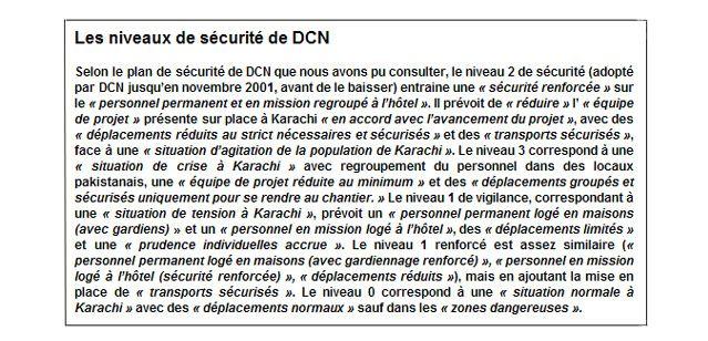 Encadré - niveau de sécurité Karachi