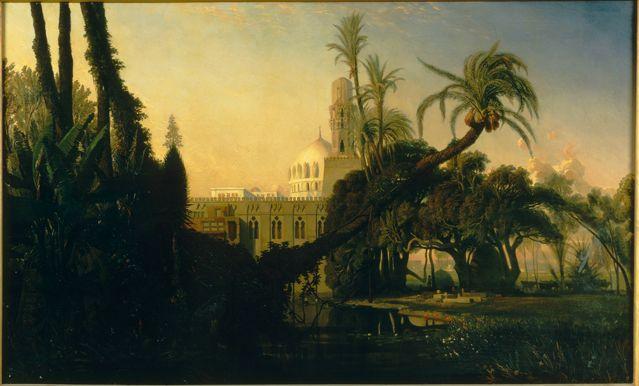 Mosquee en basse egypte d'après Prosper-Georges-Antoine Marilhat, Paris, musée du quai Branly