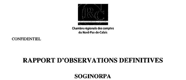 Rapport d'observations définitives SOGINORPA