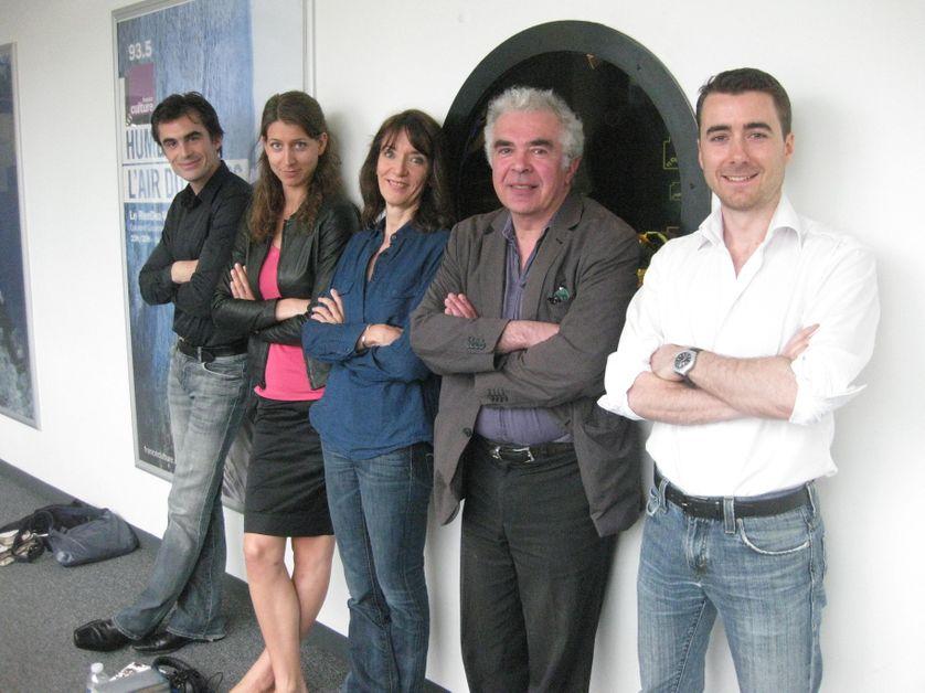 Raphaël Enthoven, Adèle Van Reeth, Nicole Bacharan, Eric Marty et Jean-Baptiste Jeangène-Vilmer