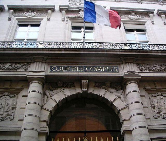 L'entrée de la Cour des Comptes, rue Cambon
