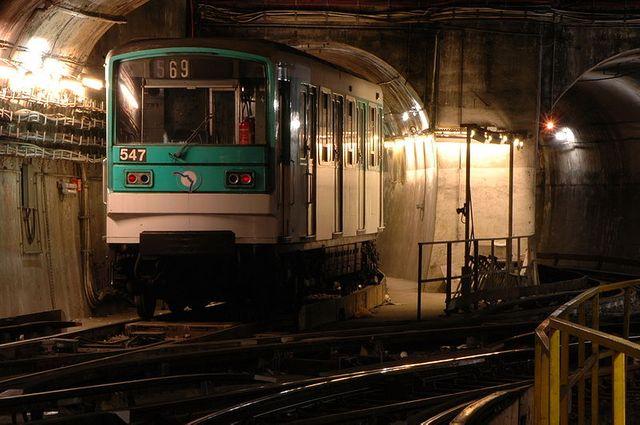 Wagon de métro à Place d'Italie