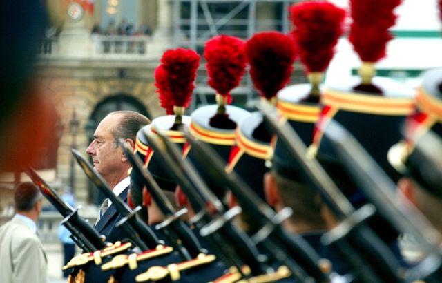 Jacques Chirac le 14 juillet 2002