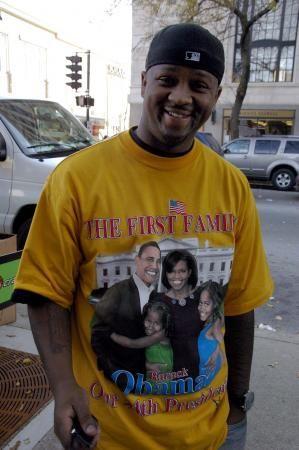 Un américain, le lendemain de la victoire d'Obama, à New-York