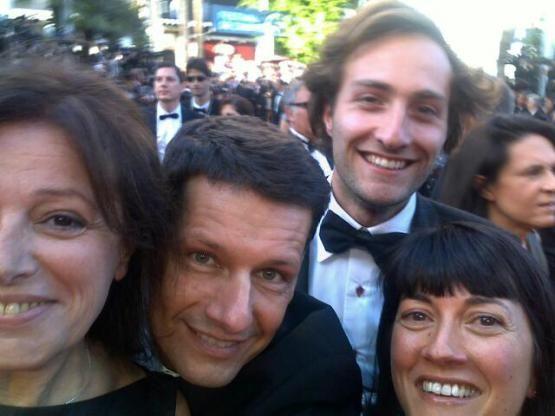 eva, vincent, baptiste, valérie à Cannes