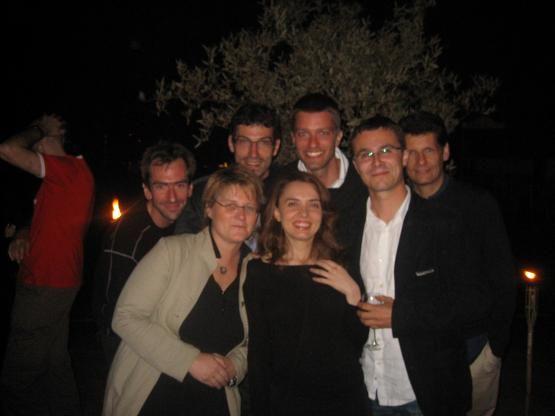 Cannes,  2007, la colonie France Inter. De gauche à droite:  Jérôme Chélius, Stéphanie Boutonnat, Franck Mathevon, Juliette Goux
