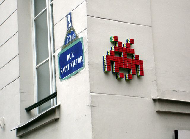Space Invader rue Saint Victor
