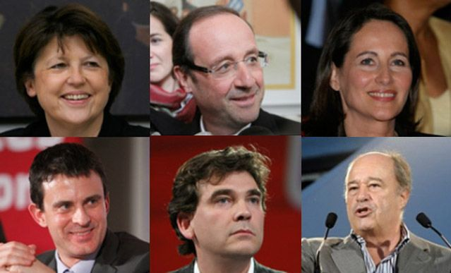 Les 6 candidats à la primaires socialiste