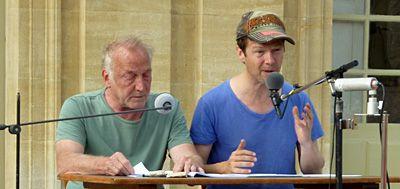 Les comédiens André Wilms et Laurent Poitrenaux.