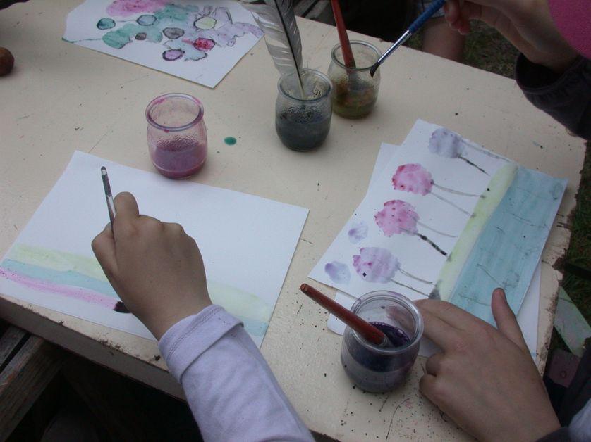 Atelier couleurs végétales enfants