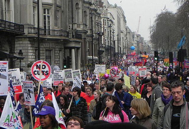 Manifestation à Londres en mars 2011
