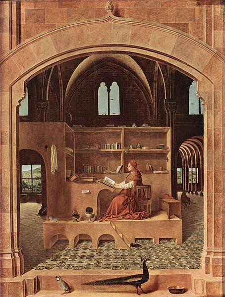 Saint Jérome dans un interieur