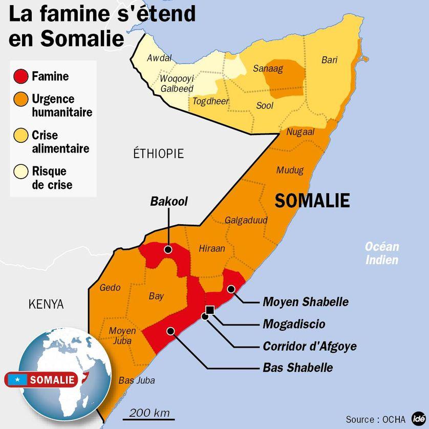 La famine s'étend en Somalie