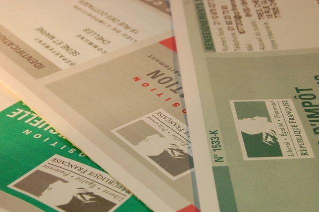 feuilles d'impôts