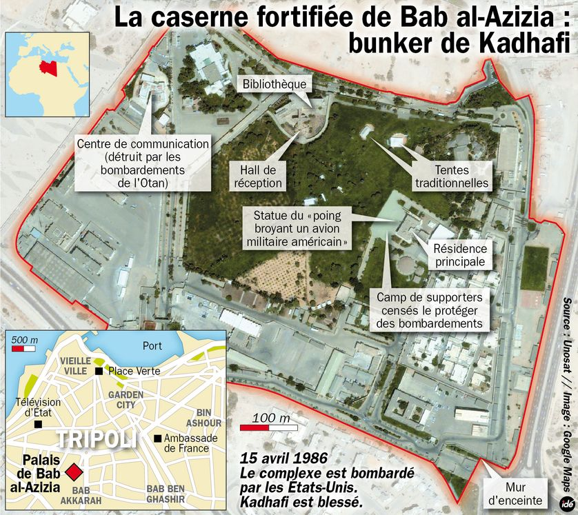 La résidence de Kadhafi à Tripoli