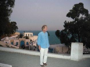Jean-Claude Villain, à Sidi bou Saïd,
