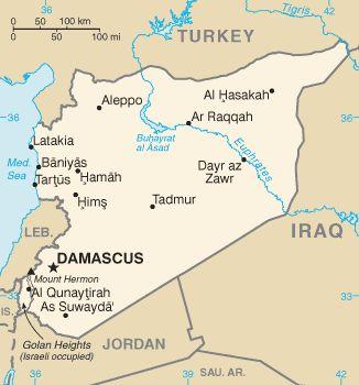 Carte de Syrie
