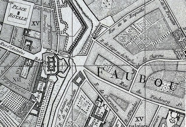 Plan de Paris-Bastille 1760
