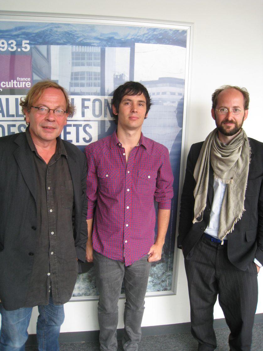 Franck Evrard, Alexandre Pedro et Antoine Fenoglio sur le terrain des Matins d'été