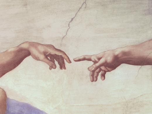 Détails de la fresque de la chapelle sixtine peinte par Michel-Ange