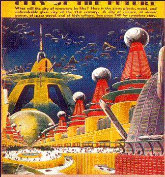 Ville du futur imaginée en 1949