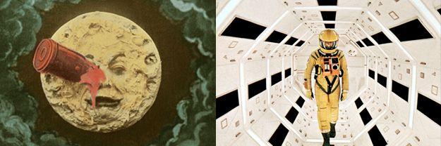 le voyage dans la lune / 2001 l'odyssée de l'espace