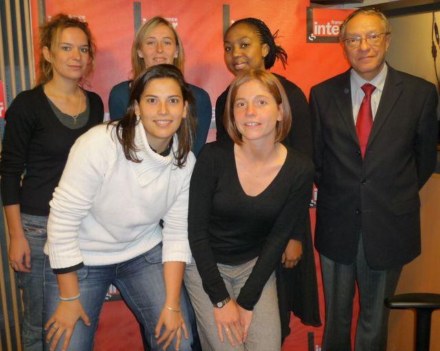 Jean Salençon et cinq lauréates