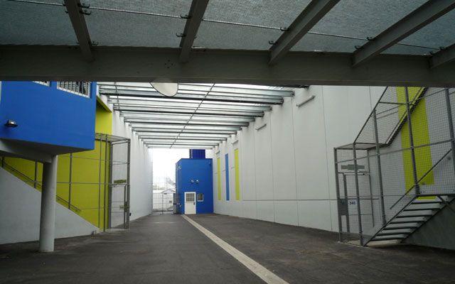 L'atrium de la prison de Rennes-Vezin